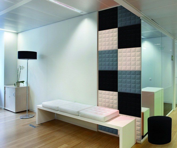 panneau acoustique d coratif en 30 designs mur et plafond mur t l parement mural panneaux. Black Bedroom Furniture Sets. Home Design Ideas