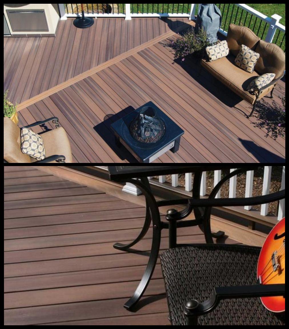 Fiberon Capped Wood Composite Pvc Decking Horizon Tudor Brown