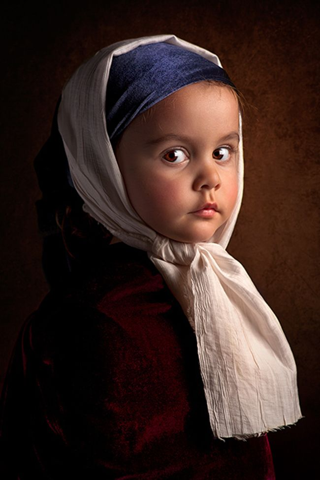 Bill Gekas Is An Australian Photographer With A Particular Liking For The Artwork Of The Old Masters Such As Vemeer And Rembrandt He Classic Paintings Children Photography Portrait Photography