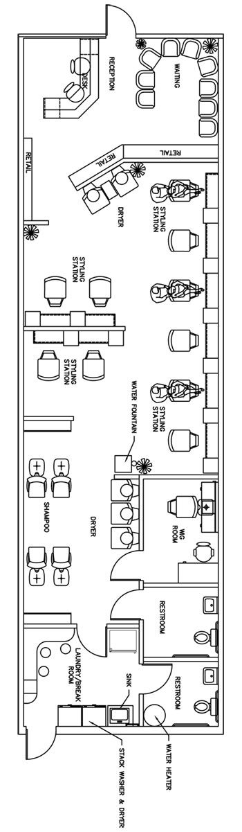Salon Floor Plan Design Layout - 1435 Square Feet | Salon ...