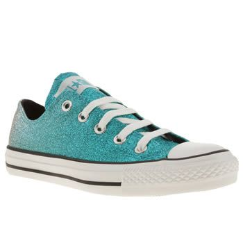 e22464b0a491dd Womens Turquoise Converse All Star Ox Iiii Sequin at schuh