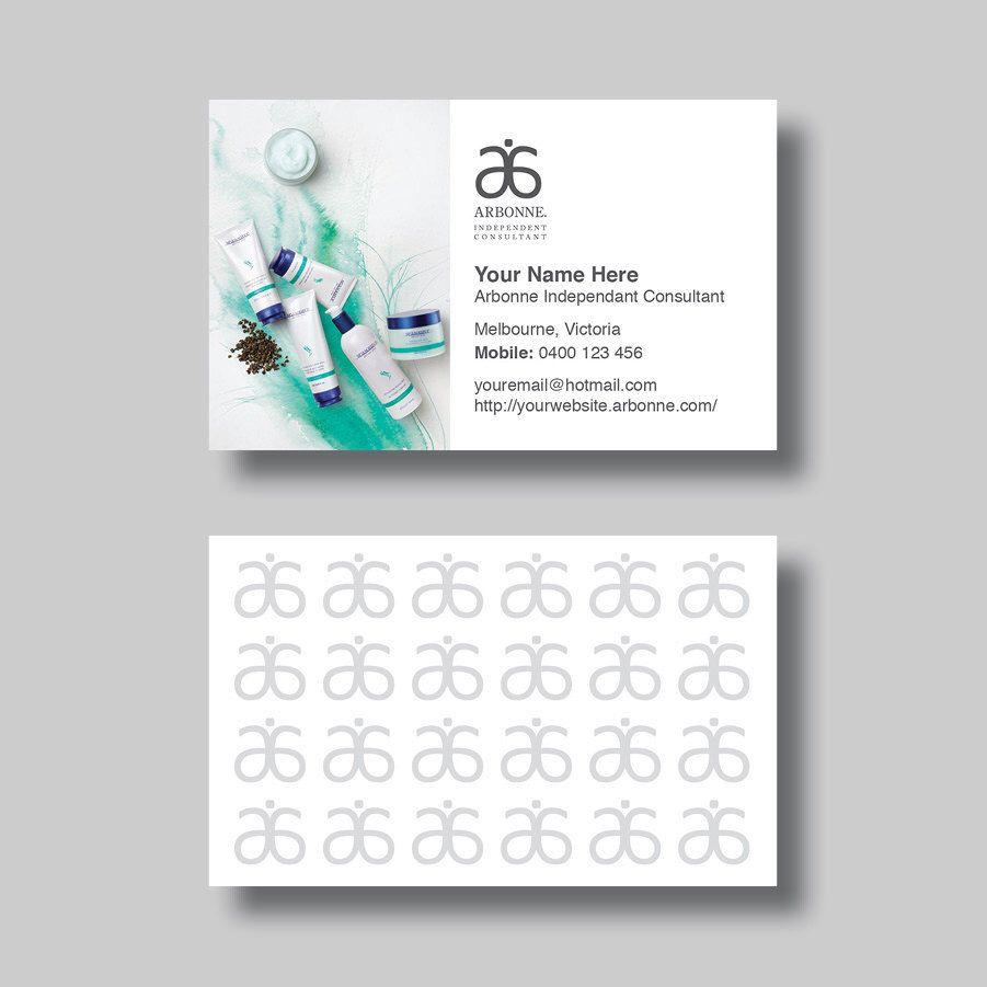 Arbonne Business Card (Ocean) - Digital Design by ...