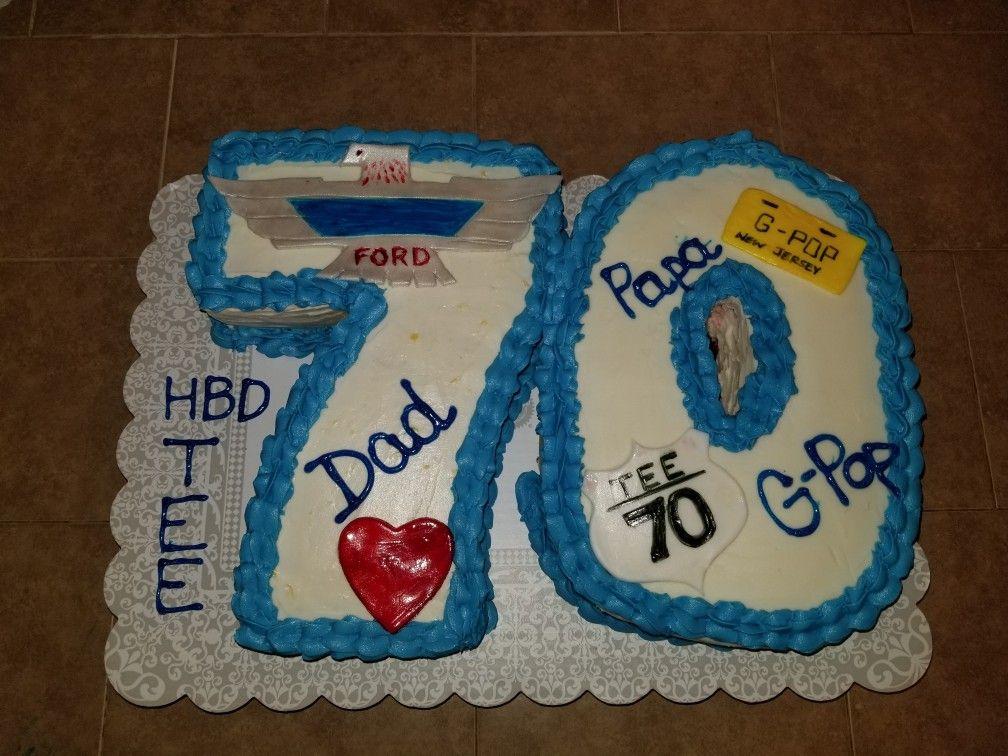 70th Birthday CakeLemon Cake wLemon Cream Cheese Frosting Red