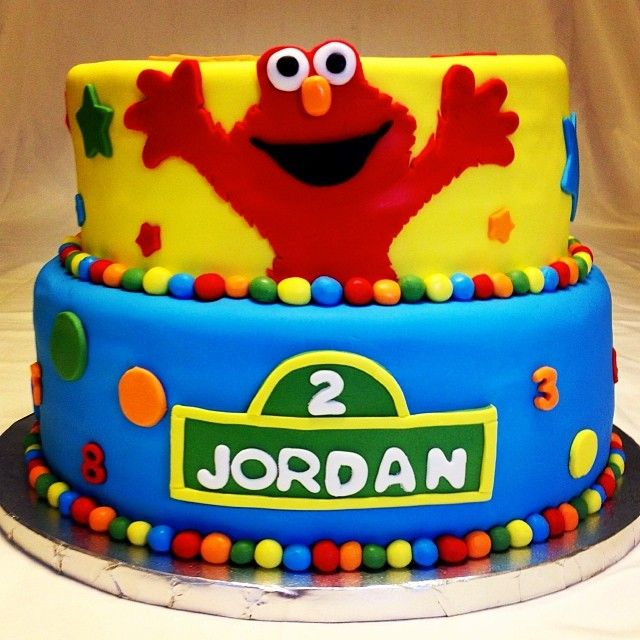 Elmo birthday cake httpinstagramcomwellkneadedbakery Well