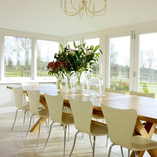 Modern conservatory dining area with bi folding doors and brown modern conservatory dining area with bi folding doors and brown leather dining chairs decor pinterest modern conservatory conservatories and dining sxxofo