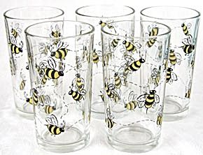 Bumble Bee Kitchen | Bumble Bee Drinking Glasses Set Of 5 (Drinking  Glasses) At Silversnow .