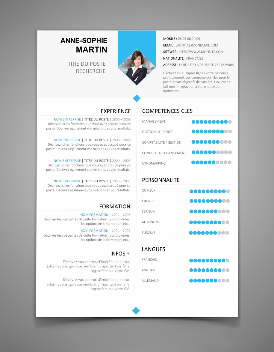 Retrouvez en image nos modèles de CV Word, gratuits, à