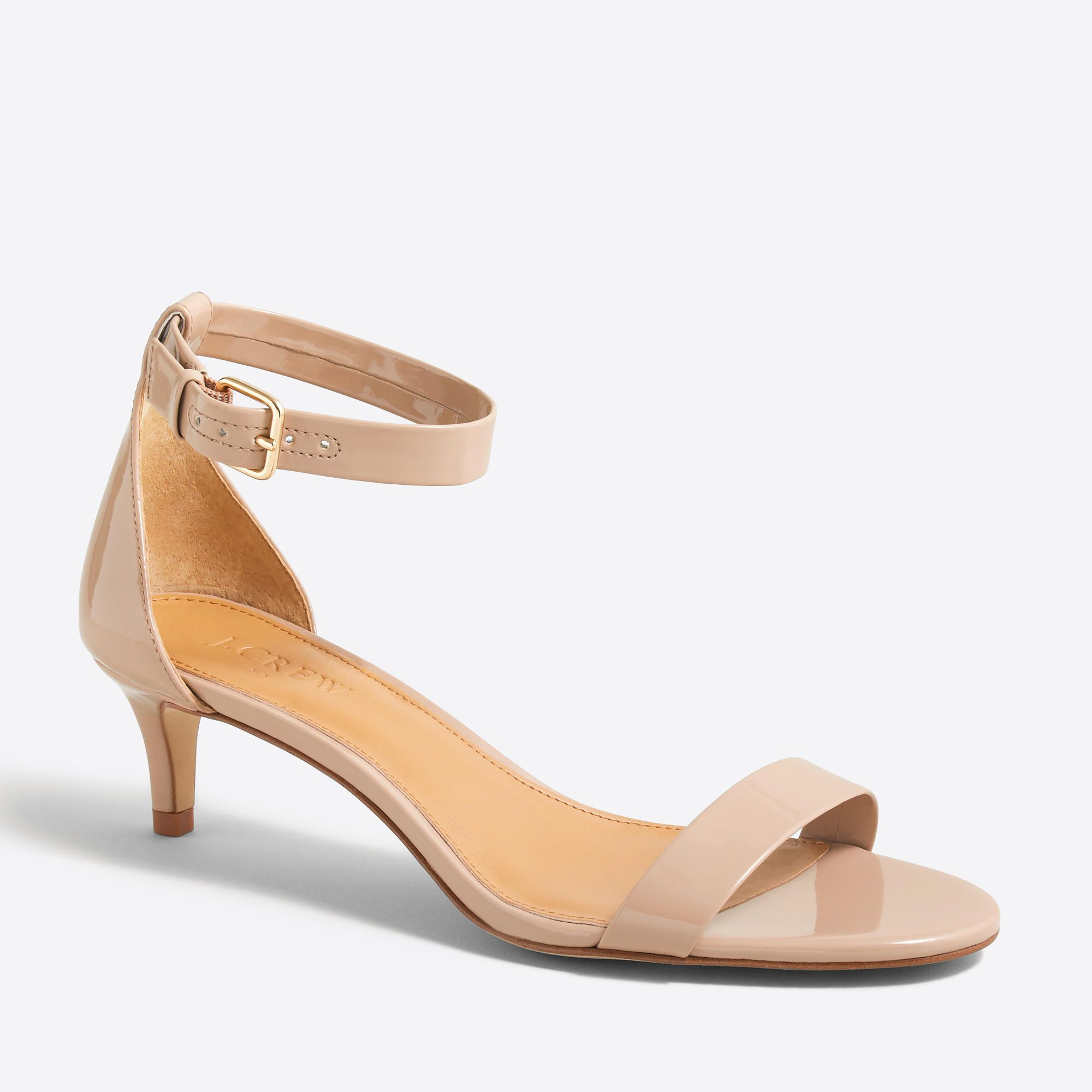 Patent Polyurethane Upper Natural Rodeo Pu Lining Man Made Sole 2 1 X2f 4 Heel Online Exclusive Import Kitten Heel Shoes Kitten Heel Sandals Kitten Heels