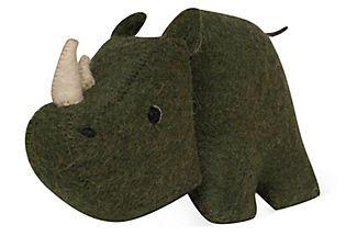 Felt Rhino. This is so cute! I can imagine in fun colors too!