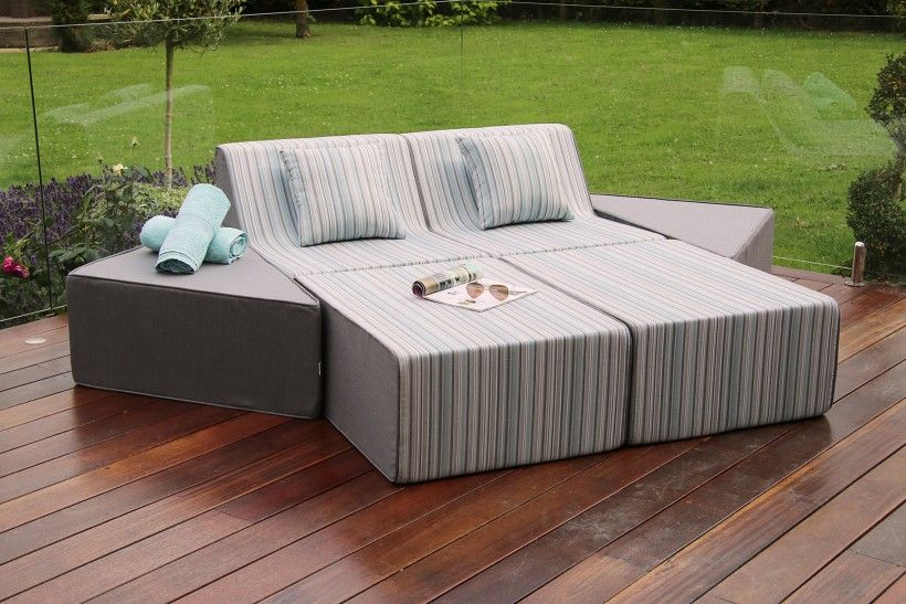 Awesome Breeze Sun Lounger Fabric Range Maze Rattan Devane Inzonedesignstudio Interior Chair Design Inzonedesignstudiocom