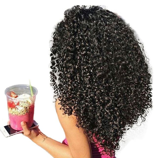 3b 3c Kinky Curly Clip In Human Hair Extensions Honey Queen Nautral