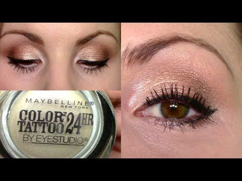 Eyeshadow Tutorial Rose Gold Pearl Eyes Pink Lips Precious Pearl Maybelline Color Tattoo Youtube Eyeshadow Eyeshadow Tutorial Maybelline Color Tattoo