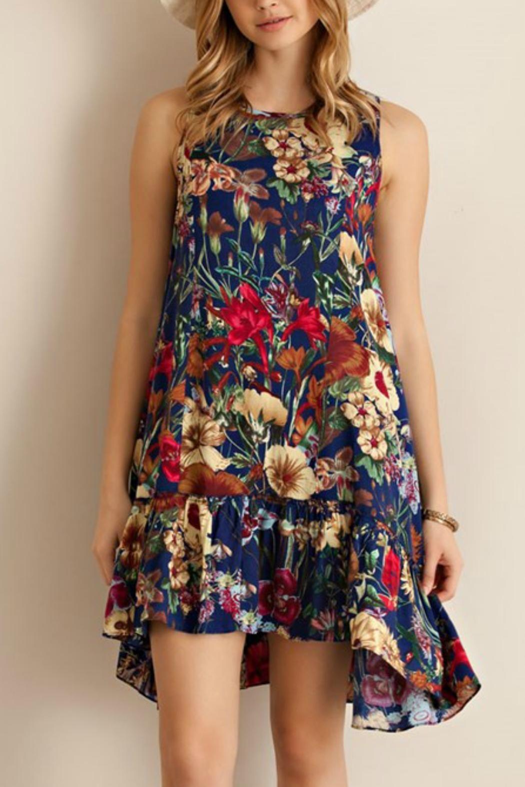 Floral Ruffle Dress - main