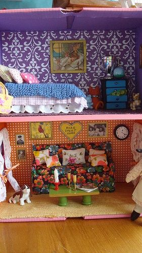 Diy Cardboard Doll House And Furniture Craft Ideas Diy Dolls