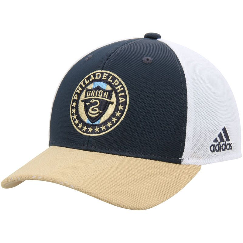 timeless design 098e9 e9fe3 Philadelphia Union adidas Youth Authentic Structured Snapback Adjustable Hat  – Navy Tan
