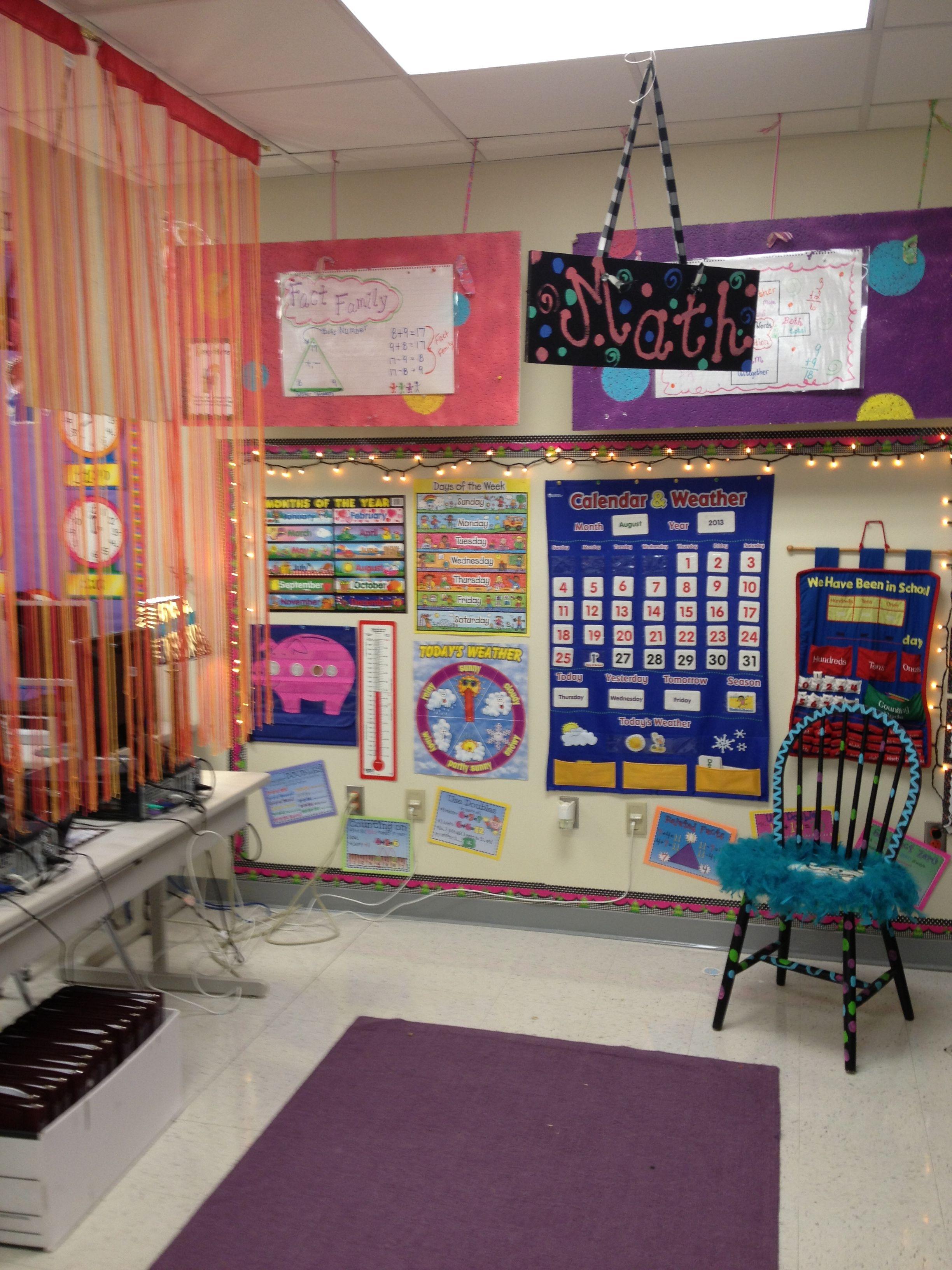 Have A Math Wall Or Designated Space For Teaching Math Math Centers Kindergarten First Grade Math First Grade Classroom