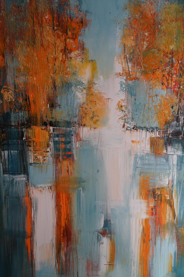 Orange White And Teal Abstract Painting Photo Free Modern Art Image On Unsplash In 2020 Abstract Abstract Painting Painting