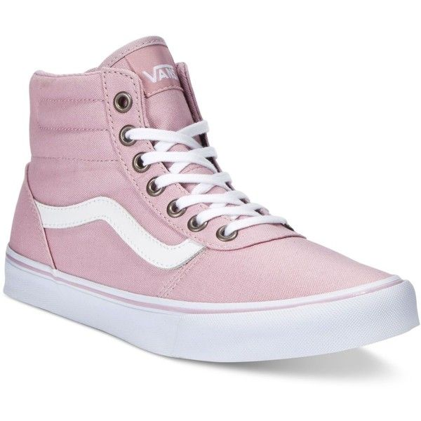 dc6b19566e Vans Women s Milton Hi Canvas High-Top Sneaker ( 65) ❤ liked on Polyvore  featuring shoes