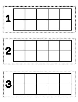 Ten Frame Template For Manipulatives Could Use As A Math Center
