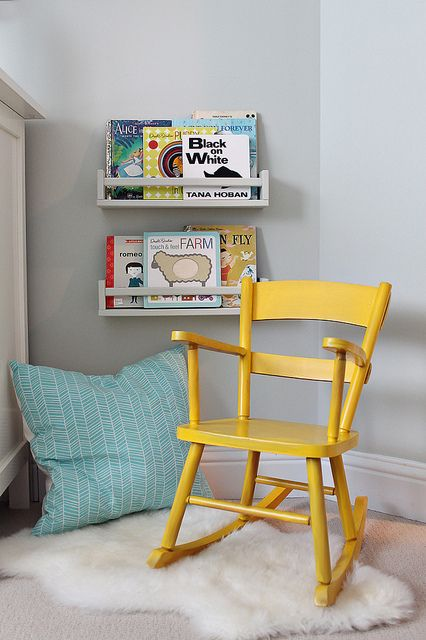 IKEA spice racks for books.