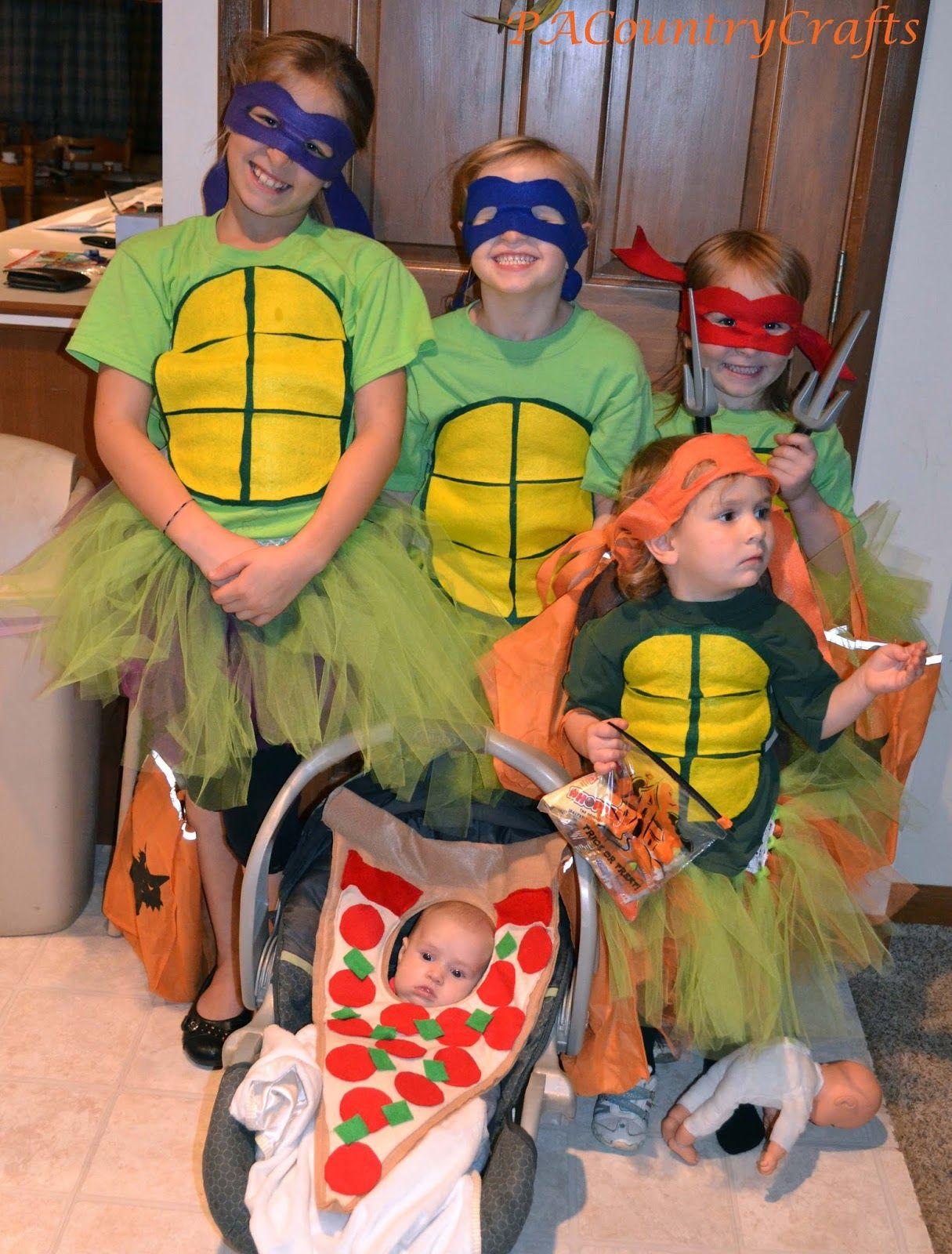 Diy girls ninja turtle costumes with tutus costumes pinterest diy girls ninja turtle costumes with tutus solutioingenieria Gallery