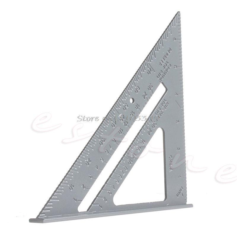 Aluminum Alloy Speed Square Protractor Miter Framing Measurement Measuring Tool G205m Best Quality Protractor Measurement Tools Triangle Ruler