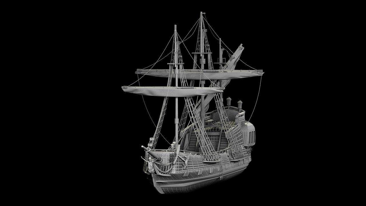pirate ship 3d model google search shipwright pinterest