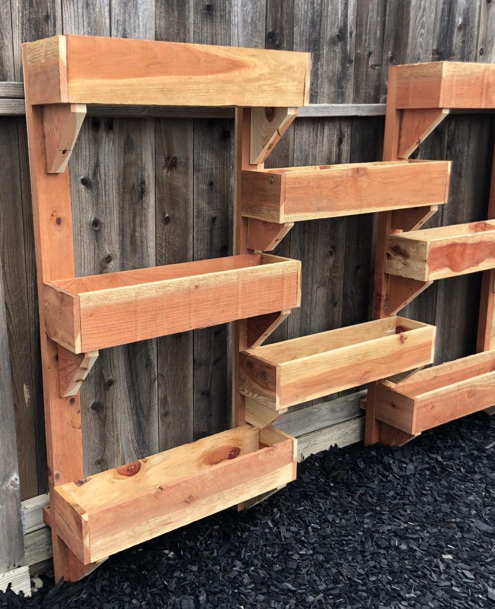 Build Your Own Vertical Planter Box is part of Vertical planter box, Planter boxes, Vertical planter, Diy planter box, Planters, Pallet planter box - Here you will find easy, step by step directions to building your own planter box  You can use it to grow fresh herbs and veggies!