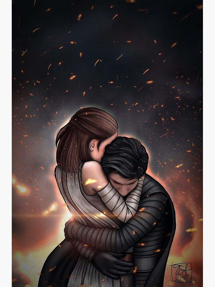 Reylo - Fire Photographic Print by TaevynAstra
