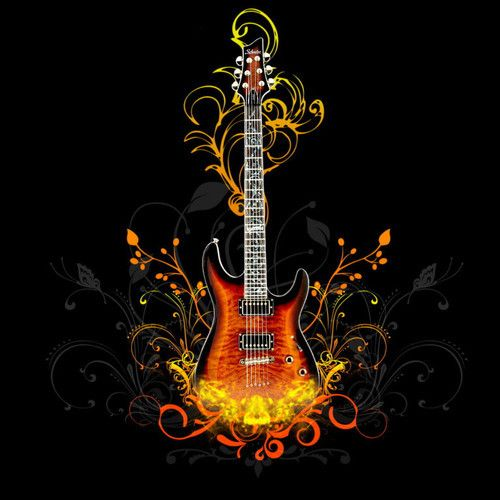 Heavy Blues Mp3 Music Wallpaper Guitar Wallpaper Iphone Guitar Art Guitar wallpaper hd full screen