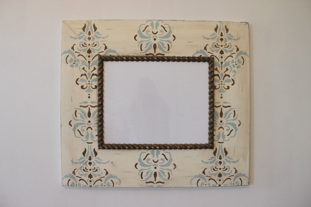 11x14 french country damask distressed wood picture frame rain and 11x14 french country damask distressed wood picture frame rain and chocolate on vintage cream with chocolate jeuxipadfo Gallery
