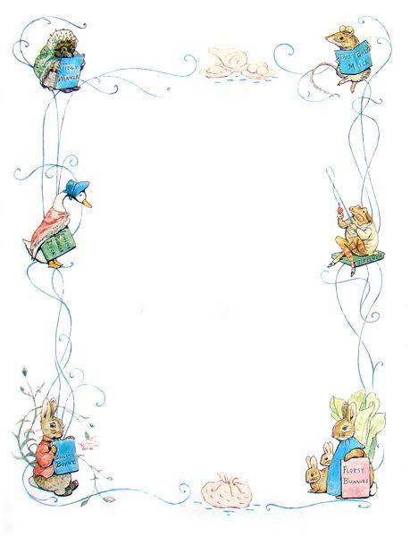 The tale of peter rabbit 459 600 printable the - Peter rabbit nursery border ...