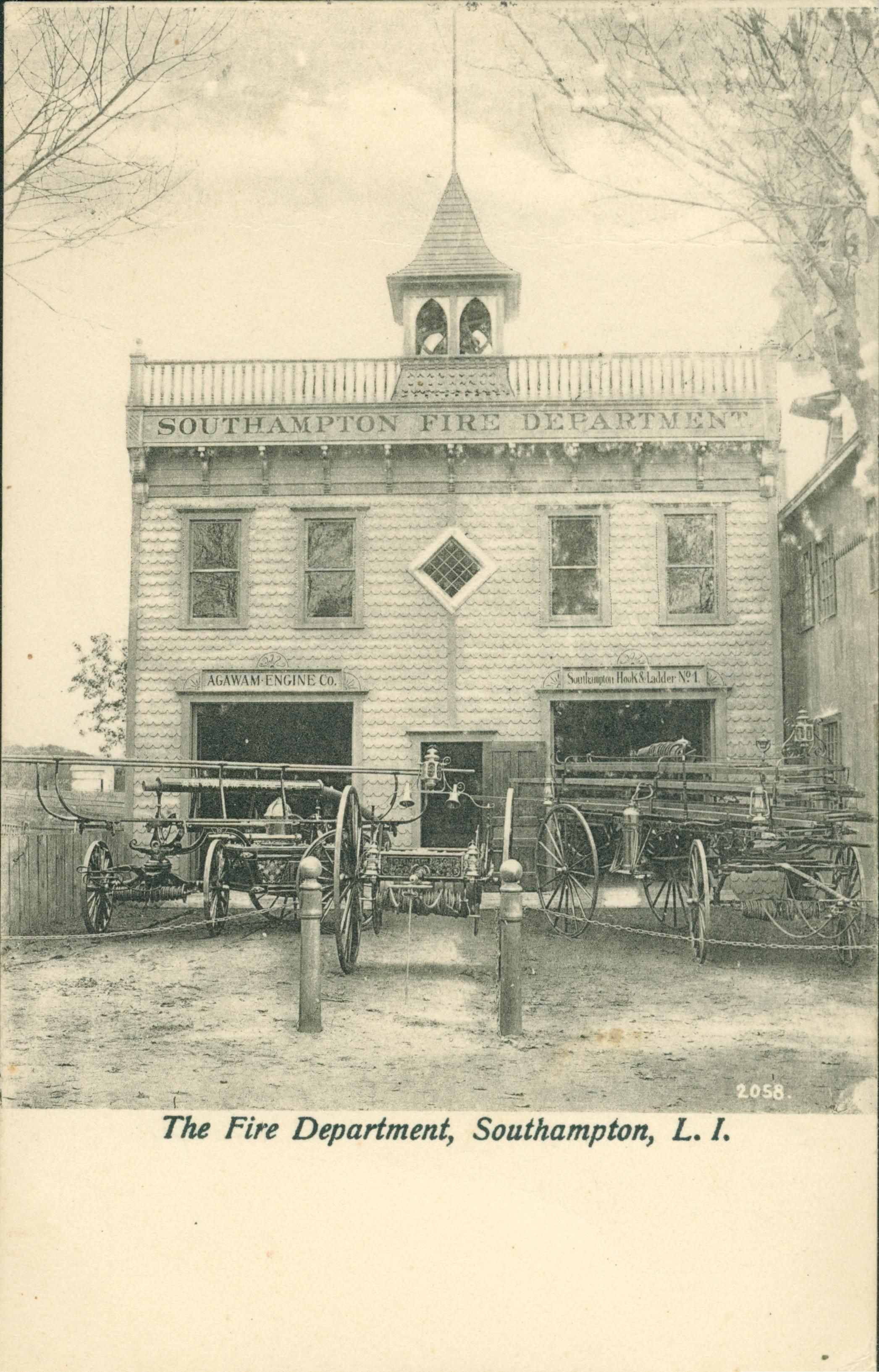 The Fire Department, Southampton, NY (Postcard