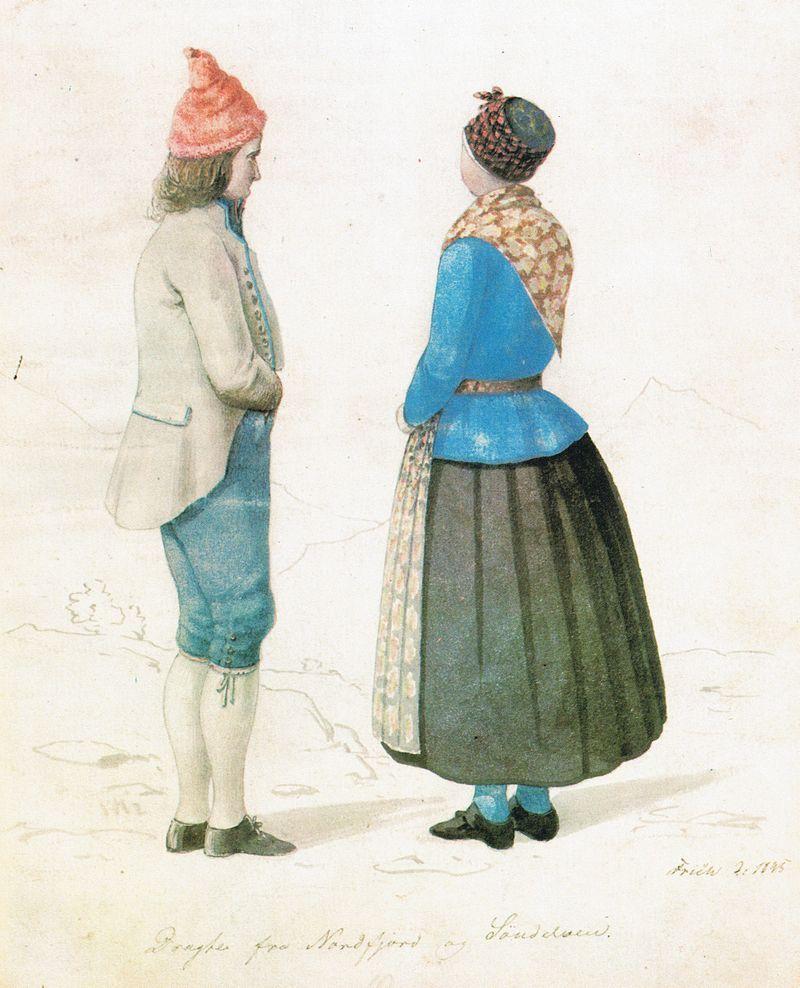 Frich 1845 Dragter fra Nordfjord og Søndelven - Nordfjordbunad - Wikipedia