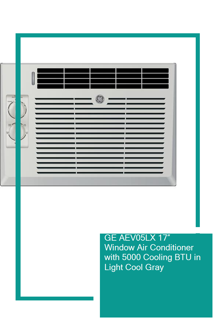 GE AEV05LX 17″ Window Air Conditioner with 5000 Cooling