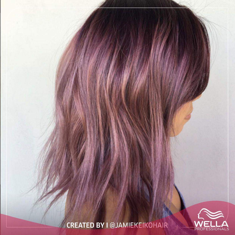 لون شعر بنفسجي مضيء لينير يوم الأحد من ابتكار Jamiekeikohair Luminous Purple Hair To Brighten Your S Wella Hair Color Hair Color Formulas Hair Stylist Life
