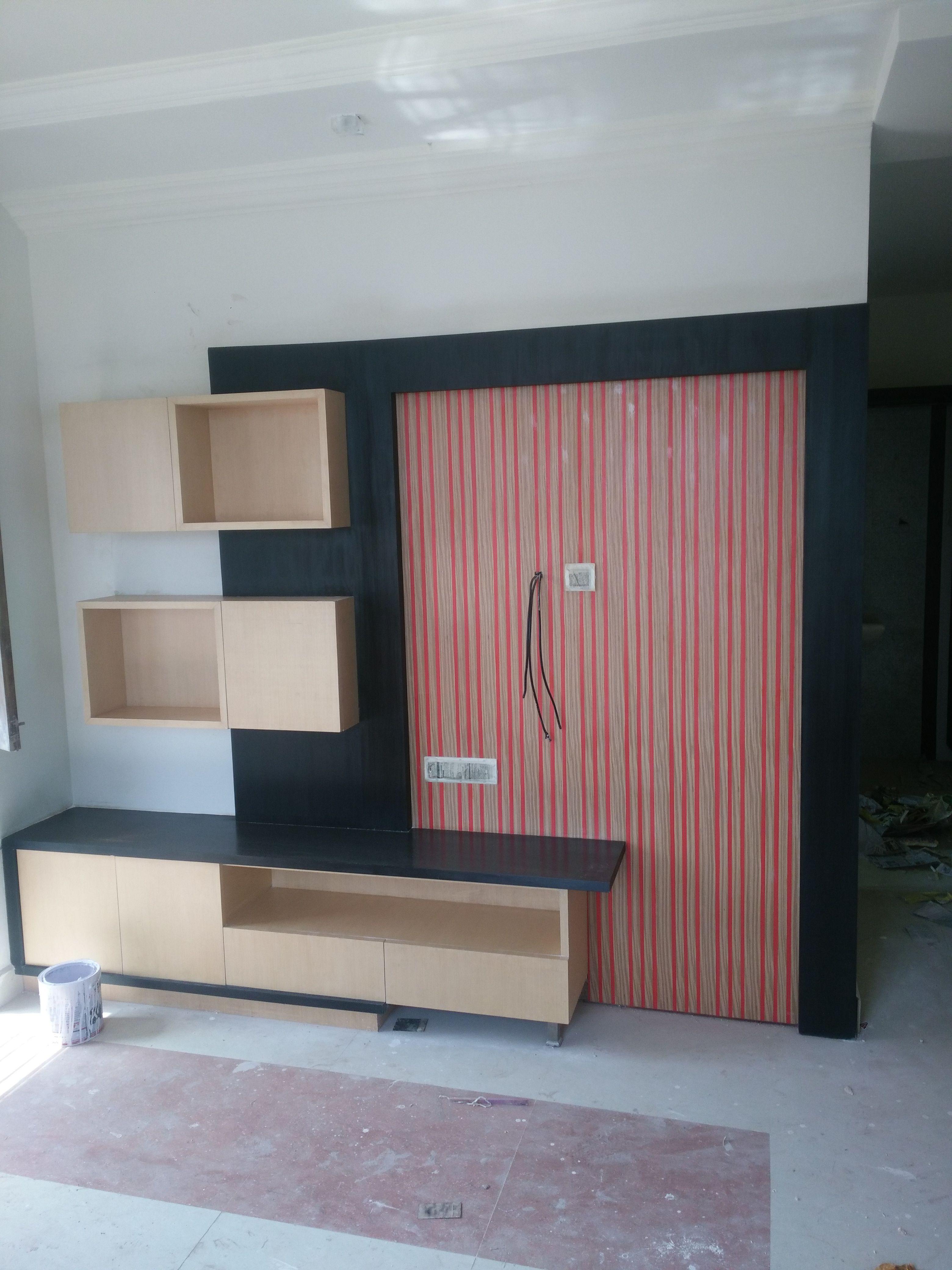 T V Unit Side Veiw Modern Living Room By Ssdecor Modern: Pin By Venkat Puma On Tv Unit
