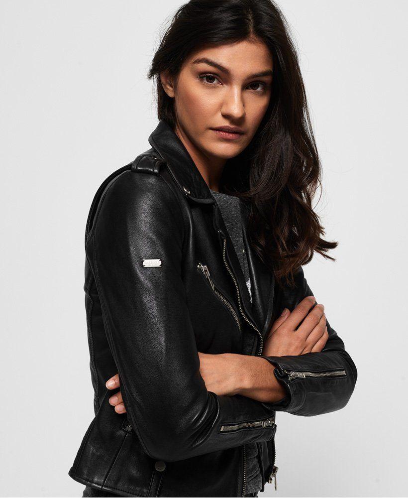 Superdry CA: Veste Cuir Femme | Blouson Cuir Femme