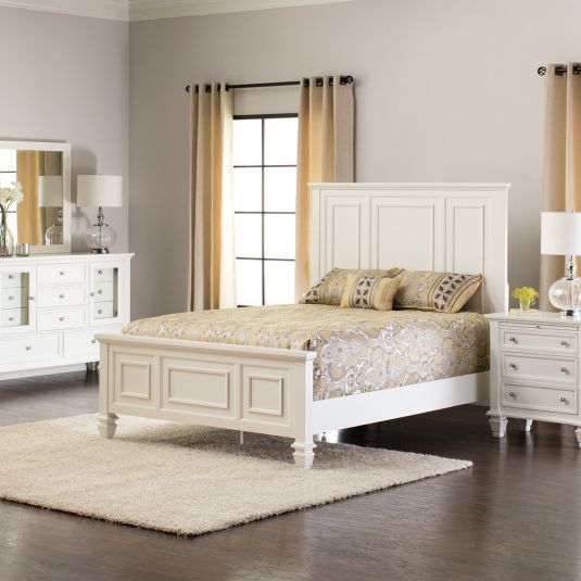White Queen Bed Set White Bedroom Furniture Set Jeromes - Big sandy bedroom furniture