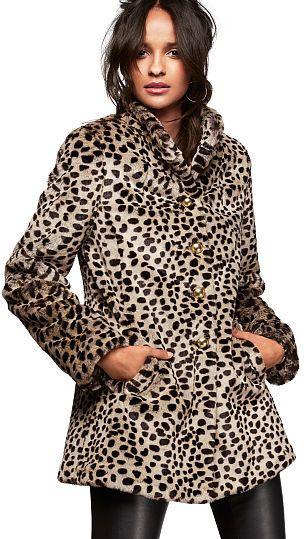 599f972a84a2 Victoria's Secret Faux-fur Coat on shopstyle.com | Ceramics | Luxury ...