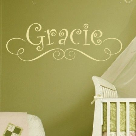 Alphabet Garden Designs Gracie\'s Personalized Wall Decal | Wayfair ...