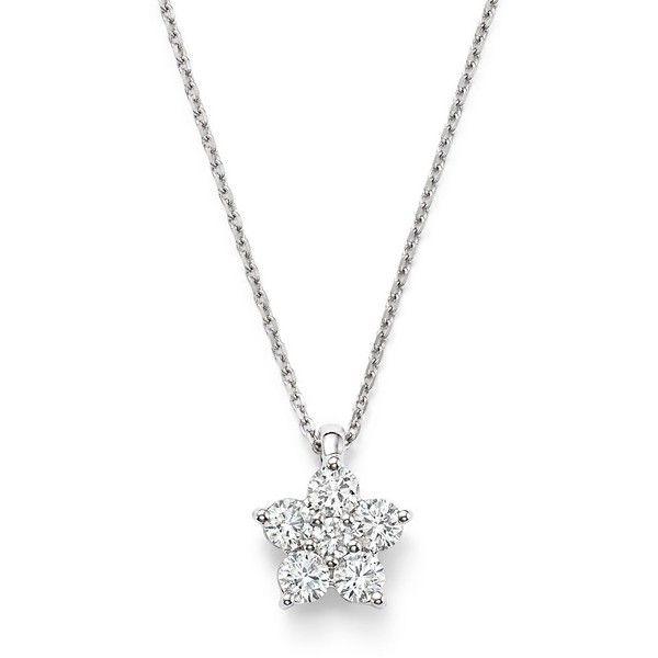 Mini Diamond Lotus 18-karat rose gold necklace Ginette NY JYZJGgXxQf