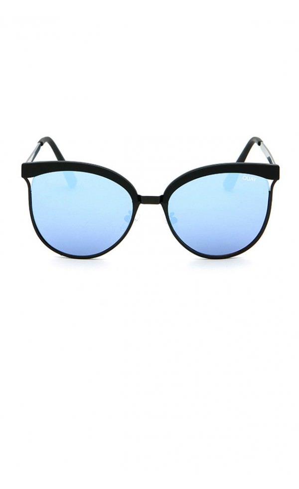 blue designer sunglasses  STARDUST Black \u0026 Blue Mirror Designer Sunglasses