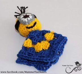 Minion Crochet Pattern Pinterest Top Pins Cutest Ideas #minioncrochetpatterns Minion Crochet Lovey Blanket Free Pattern #minioncrochetpatterns