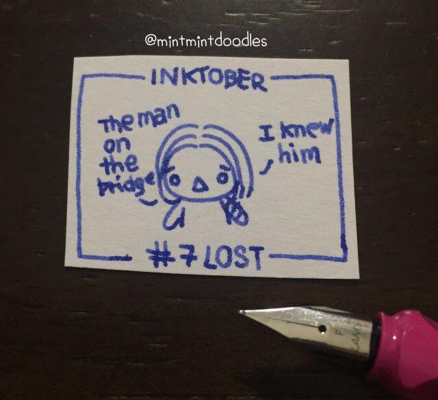 Inktober #7 Lost 🖋 Lamy (fine nib) #inktober #inktober2016   #buckybarnes #wintersoldier #mintmintdoodles