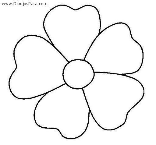 Dibujo De Flor De Cinco Petalos Dibujos De Flores Flores Para