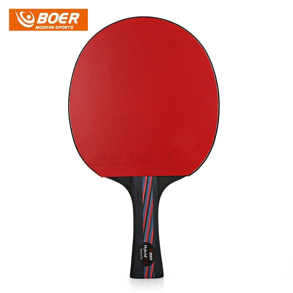 Boer Lightweight Table Tennis Ping Pong Racket Paddle Black And Red 3w24740612 Size Shake Hand Grip Table Tennis Ping Pong Table Tennis Racket
