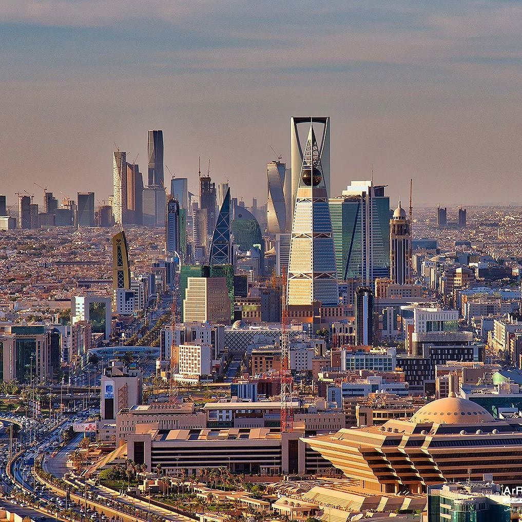 The Bizarre Skyline Of Riyadh 1017x1017 Skyline Riyadh Saudi Arabia Riyadh