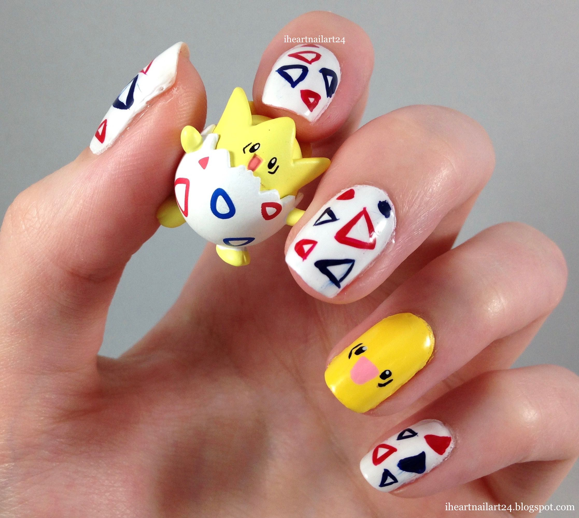Togepi Nail Art. | beauty and the geek | Pinterest | Art nails