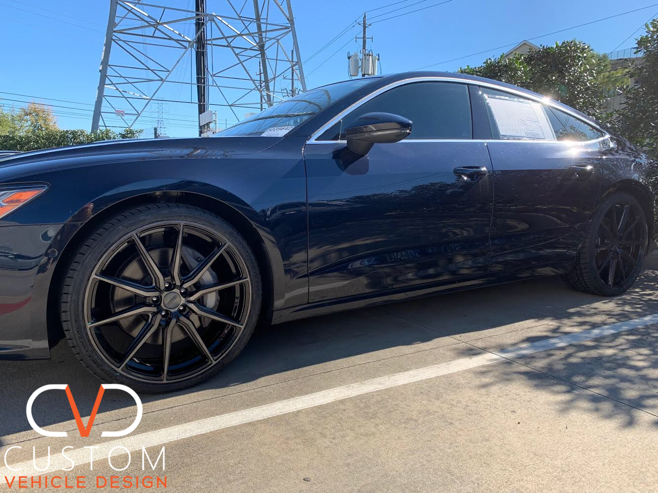 2020 Audi A7 with Vossen HF3 Double Gloss Black wheels